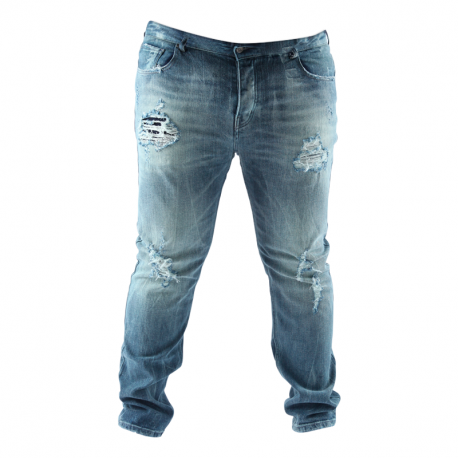 Jean Arpy denim damaged Dark blue