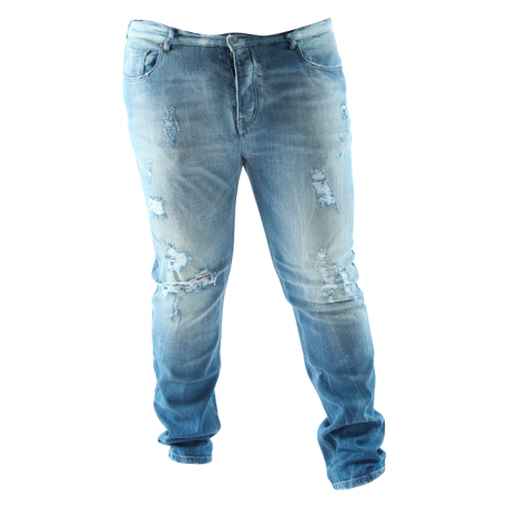 Jean Arpy denim broken aged blue